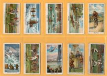 Collectable Cigarette cards set Sports Records Baseball,Billiards,golf